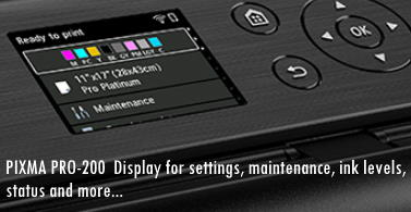 Canon PIXMA PRO-200 Printer Display